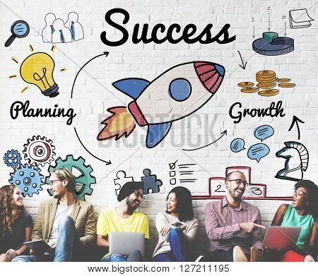 Success Startup Innovation Growth Improvement Concept