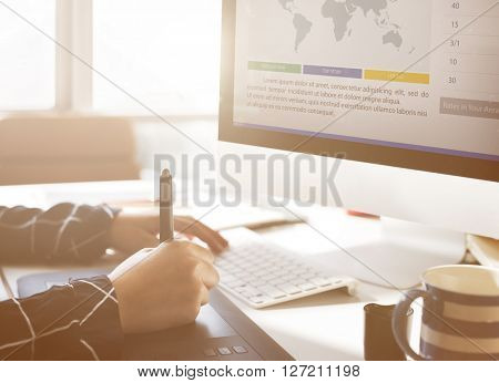 Marketing News Article Analysis Report Concept
