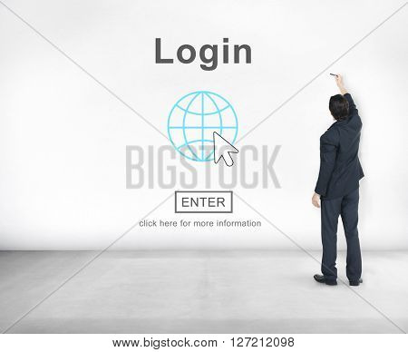 Log In Profile Enter Global Icon Concept