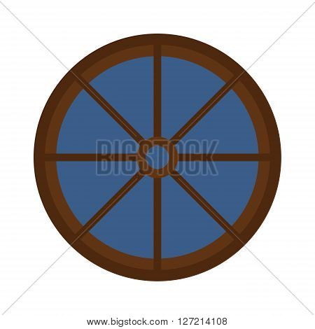 Different types house windows vector elements isolated on white background. Windows elements flat vector style. Vector windows frames. Windows icons on white, Window frame vector isolated