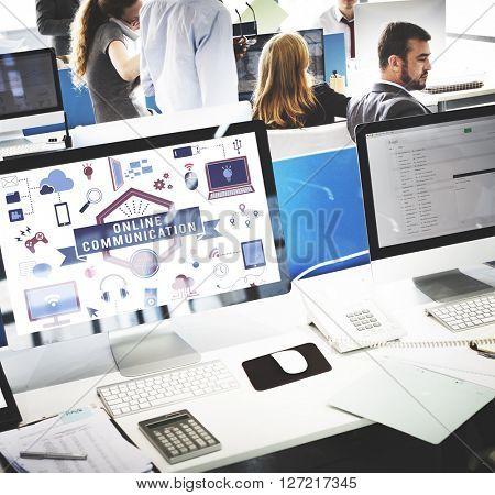 Computer Technology Business Concept