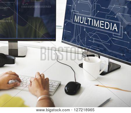 Multimedia Online Technology Future Concept