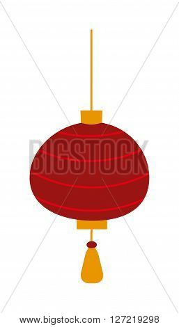 Chinese lantern vector symbols. Traditional eastern chinese lantern on white background. Chinese lantern vector icon. Chinese lantern cute vector illustration. Chinese lantern vector