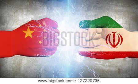 Iran vs China 3D Render