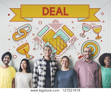 Deal Contract Solution Strategy Partnership Concept