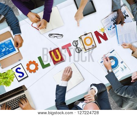 Solution Decision Progress Solve Discovery Ideas Concept