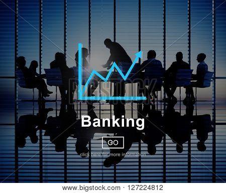 Banking Financial Savings Progress Chart Concept