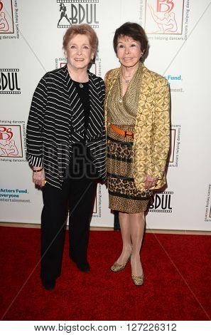 LOS ANGELES - APR 24:  Millicent Martin, Neile Adams at the Professional Dancers Society's Annual Gypsy Awards Luncheon at the Beverly Hilton Hotel on April 24, 2016 in Beverly Hills, CA