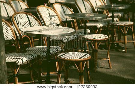 Parisian terrace restaurant