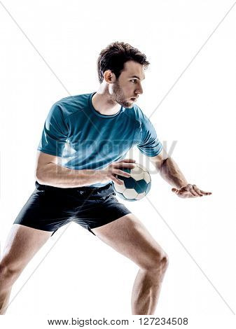 man handball player isolated