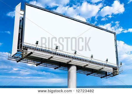 Blank Mega Billboard in the Skies