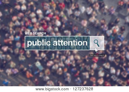 Web search bar glossary term - public attention definition in internet glossary.