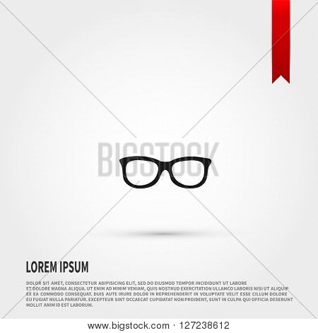 Glasses icon vector. Glasses icon JPEG. Vector illustration design element. Flat style design icon.
