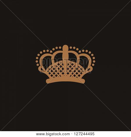 Crown logo black. Vector crown royal icon. Crown symbol. King design crown element