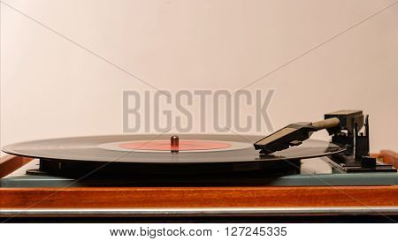 Stereo Turntable Vinyl Record Player Analog Retro Vintage