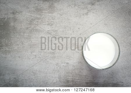 Glass Of Milk On A Concrete Table