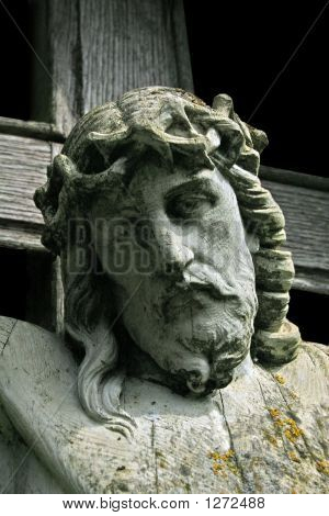 Bust Of Christ On The Cross 2