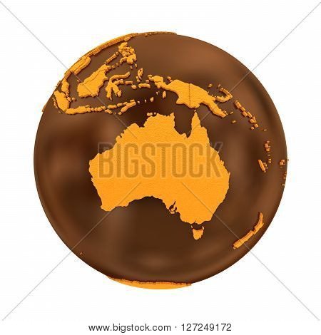 Australia On Chocolate Earth