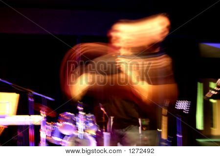 Blurred Person On Stage