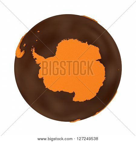 Antarctica On Chocolate Earth