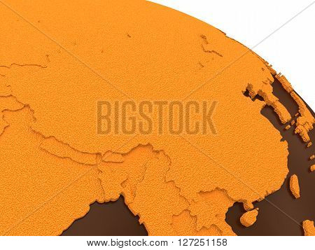 China On Chocolate Earth