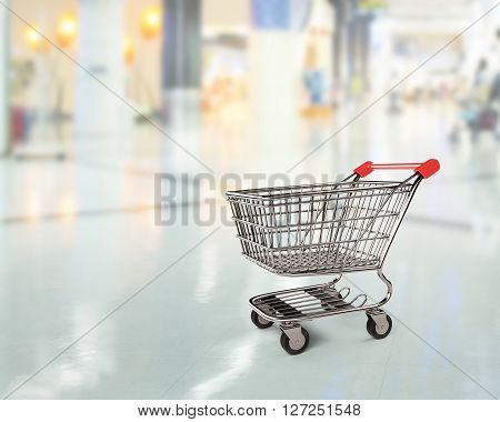Empty Shopping Cart Side View