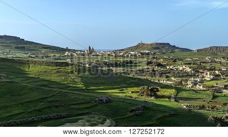 Fields In Malta Panorama