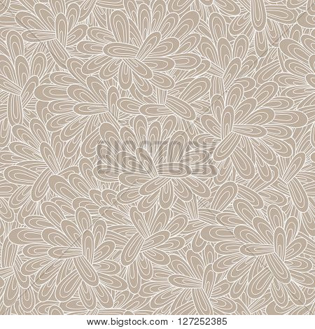 Vector seamless abstract hand-drawn pattern. Wave patterns seamlessly tiling. Hand drawn seamless wave background