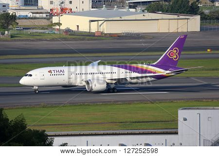 Thai Airways Airplane Boeing 787 Dreamliner