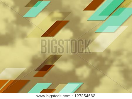 Abstract bright tech geometric design with sepia sky. Vector corporate background for print flyers, brochure, web graphic design or booklet