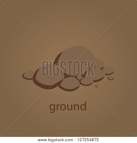 ground vector illustration logo brown template for plant