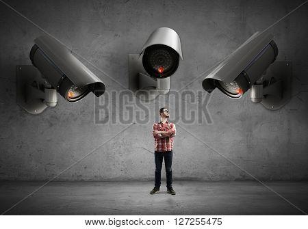 Camera keep an eye on man