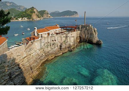 Cape Petrovac on coast of Montenegro