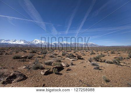 A High Sierra landscape, near Bishop in California