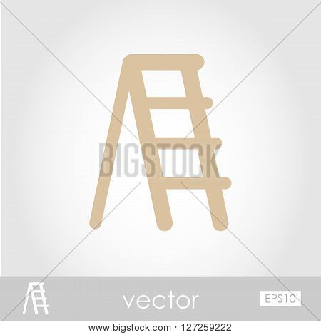 Ladder stepladder stair staircase stairway vector icon outline isolated garden eps 10