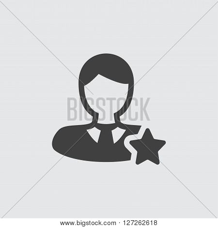 Favorite user icon illustration isolated vector sign symbol