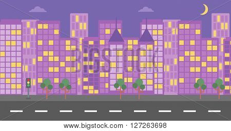Background of night city.