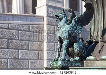 Old Griffin Bronze Statue, Vienna