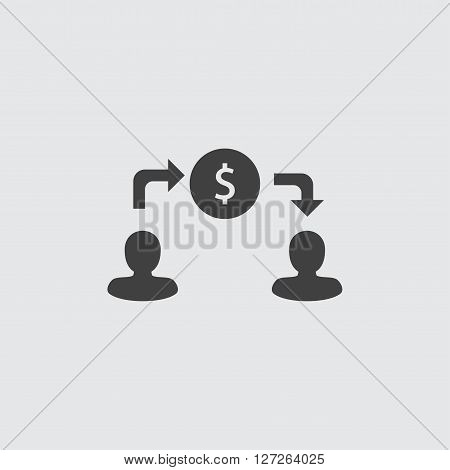 Money transfer icon illustration isolated vector sign symbol