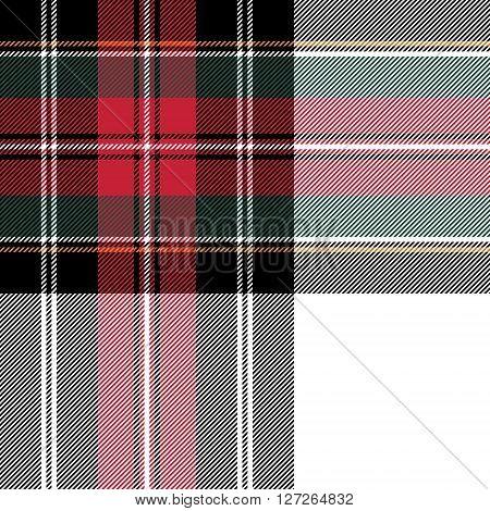 dress stewart tartan seamless pattern fabric texture. Vector illustration. EPS 10. No transparency. No gradients.