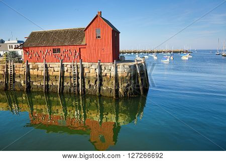 Lobster shack and landmark of Rockport MA
