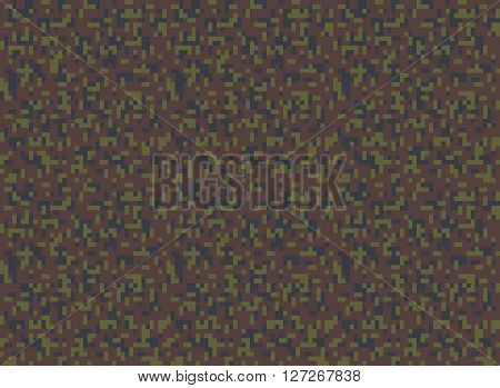 military camouflage seamless pixel pattern vector illustration