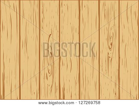 wooden background from boards vector illustration yellow