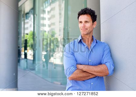Business Man Standing Outside With Arms Crossed