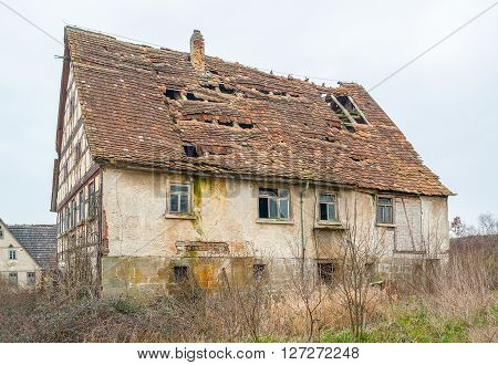a rundown old farmhouse in Southern Germany