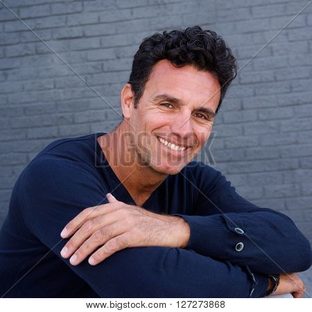 Older Male Fashion Model Smiling