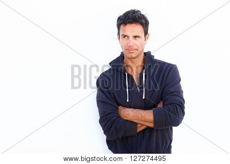 Middle Aged Man Glancing