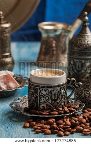 Turkish Coffee And Turkish Delight
