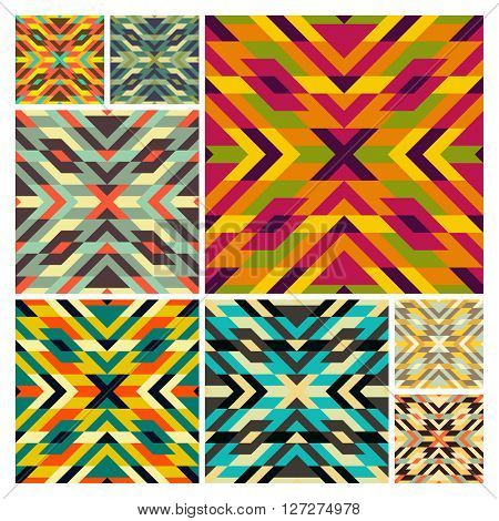 Seamless mosaic pattern. Geometric background. Vector Illustration. Can be used for wallpapers, backgrounds, web sites. Collection for design.