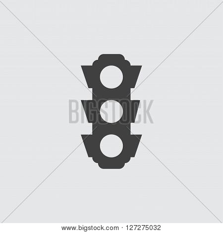 Traffic light icon illustration isolated vector sign symbol